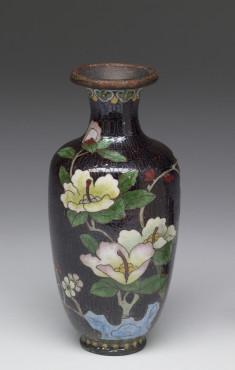 Enamel Vase Depicting a Stage of Cloisonné Enamelling Process (5 of 8)