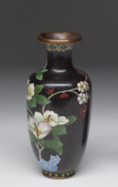 Enamel Vase Depicting a Stage of Cloisonné Enamelling Process (7 of 8)