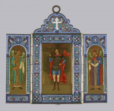 Triptych with Saint and Angels