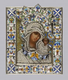Mother of God Icon with Oklad