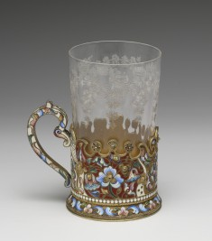 Tea Glass Holder and Glass