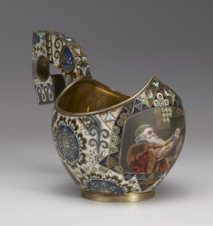 Kovsh with Miniature: The Boyar
