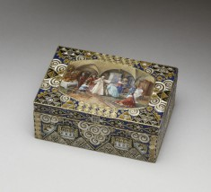 """Cigarette Box with Miniature of """"Blind Man's Bluff"""""""