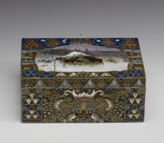 Box with Winter Landscape