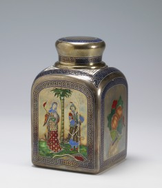 Tea Caddy with Chinoiserie Couple