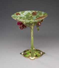 Art Nouveau Dish with Stem