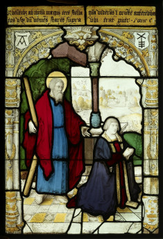 Saint Andrew and a donor