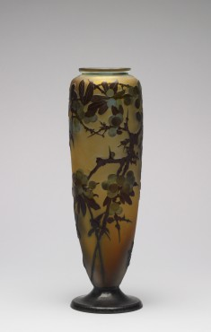Vase with Cherry Tree Branches