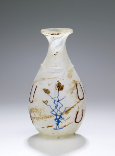 "Bottle with Colored Glass Trails (""Snake-Threads"")"