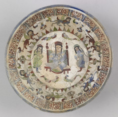 Bowl with Enthroned Figure, Courtiers, and Harpies