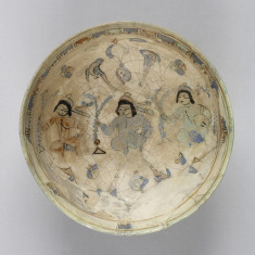 Bowl with Seated figures and Birds