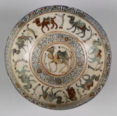 Bowl with Camel Caravan