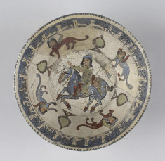 Bowl with Horseman and Harpies