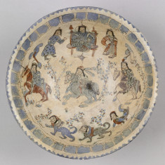 Bowl with Horsemen, Enthroned Ruler, and Harpies