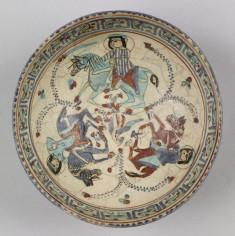 Bowl with Horsemen and Bird