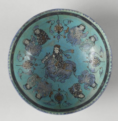 Bowl with Seated Figures and Horseman