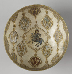 Bowl with Horseman and Birds
