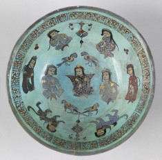 Bowl with Prince, Courtiers, and Sphinxes