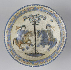 Bowl with Horsemen Flanking a Tree