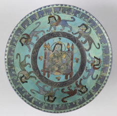 Bowl with Enthroned Ruler Surrounded by Sphinxes