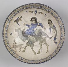 Bowl with Man Riding Camel