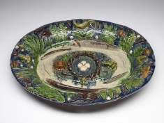 Ornamental Platter with Pond Life
