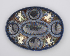 Oval Fruit Dish with Putti