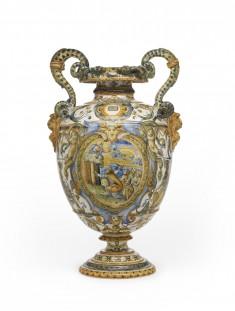 Snake-Handled Vase with Scenes from Genesis