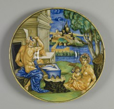 Plate with Vulcan, Venus, and Cupid