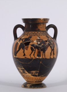 Belly Amphora with the Reclamation of Helen and Herakles and Kerberos