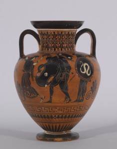 Amphora with Ajax Carrying the Dead Achilles