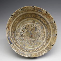 Bowl with Horseman and Winged Sphinxes