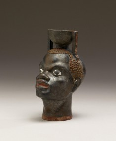 Aryballos in the Form of Head of an African