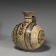 Barrel Jug with Geometric Decoration