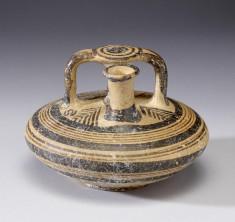 Stirrup Jar with Geometric Decoration