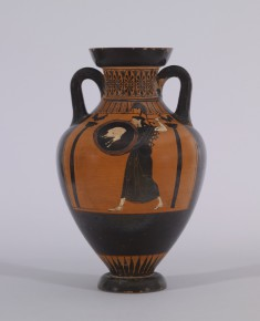Pseudo-Panathenaic Amphora with Discus Thrower