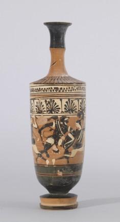 Lekythos with Three Amazons and Herakles