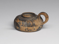 Base of Lidded Jug with Cover  (Askos, lidded)