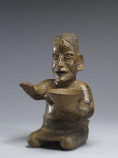 Kneeling Female Figure Holding a Bowl