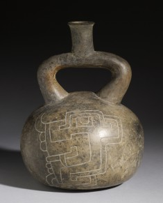 Stirrup Vessel with Incised Designs