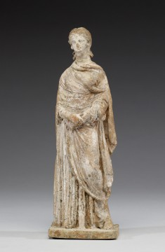 Standing Draped Woman with Clasped Hands