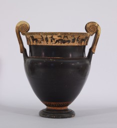 Volute Krater Depicting Herakles, a Lion, Combat and Spectators