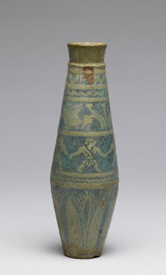 Flask with Figures and Lotus