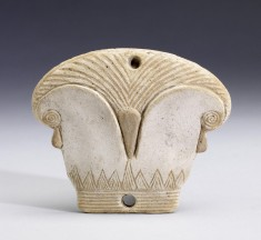 Lid of Cosmetic Box in the Form of a Papyrus Capital