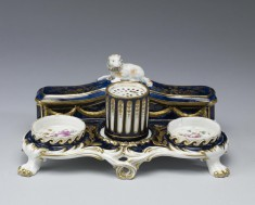 Inkstand with Sandbox and Cover for Pen Compartment