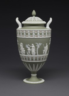 Covered Vase with Women and Children at Sacrifice and Worship