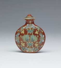 Snuff Bottle with Bees and Flowers