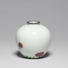 Globular Vase with Roses