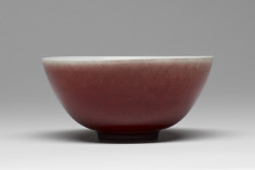 Red and White Glazed Bowl