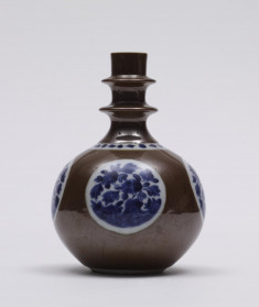 Bottle with Floral Medallions